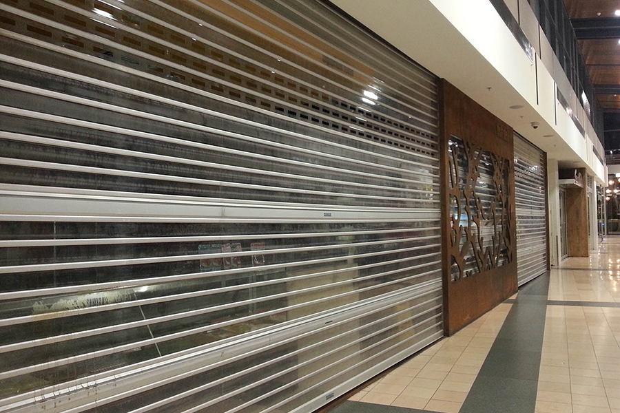 see through roller shutters